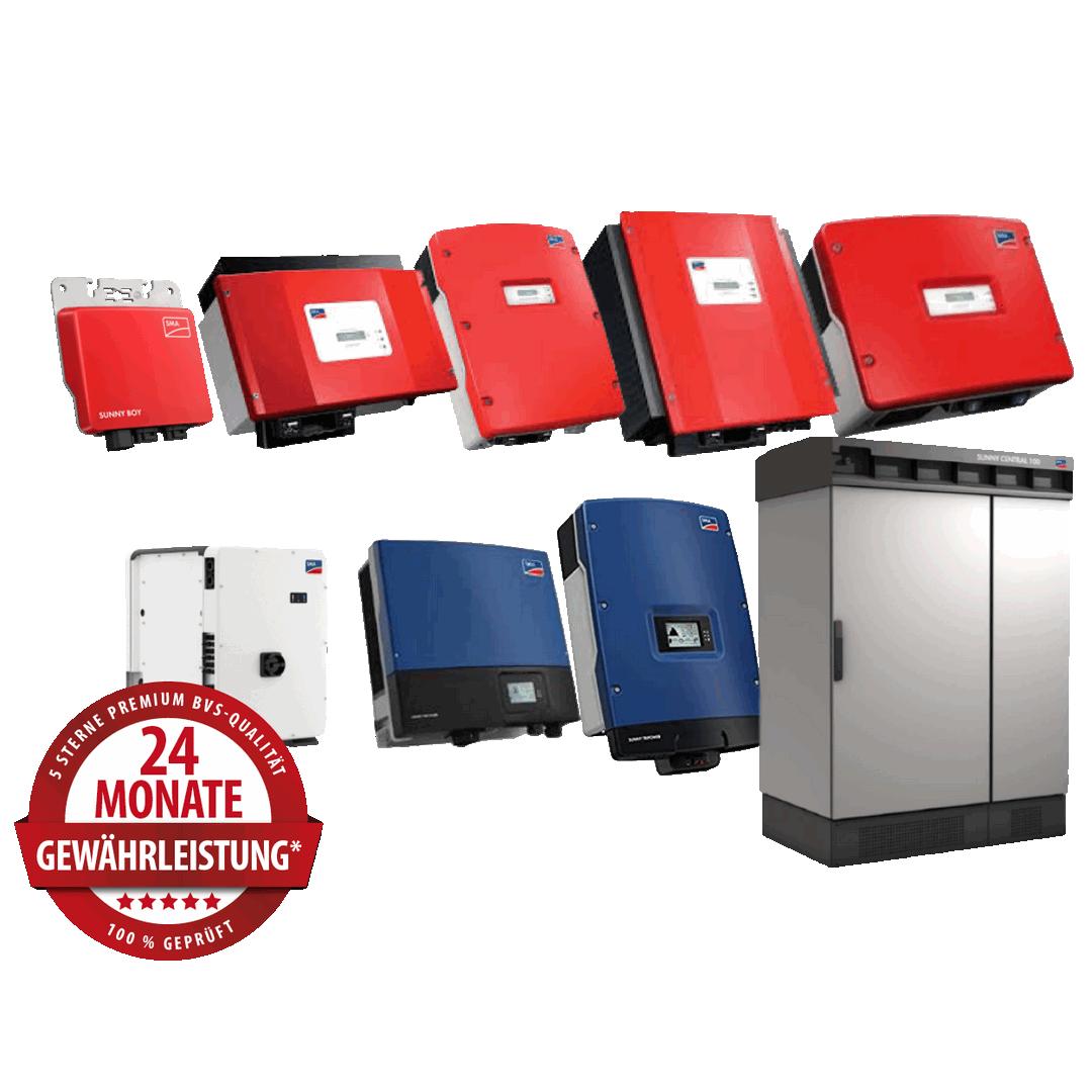SMA Wechselrichter  ab 10 kW  – Produktüberholende Reparaturen & Service