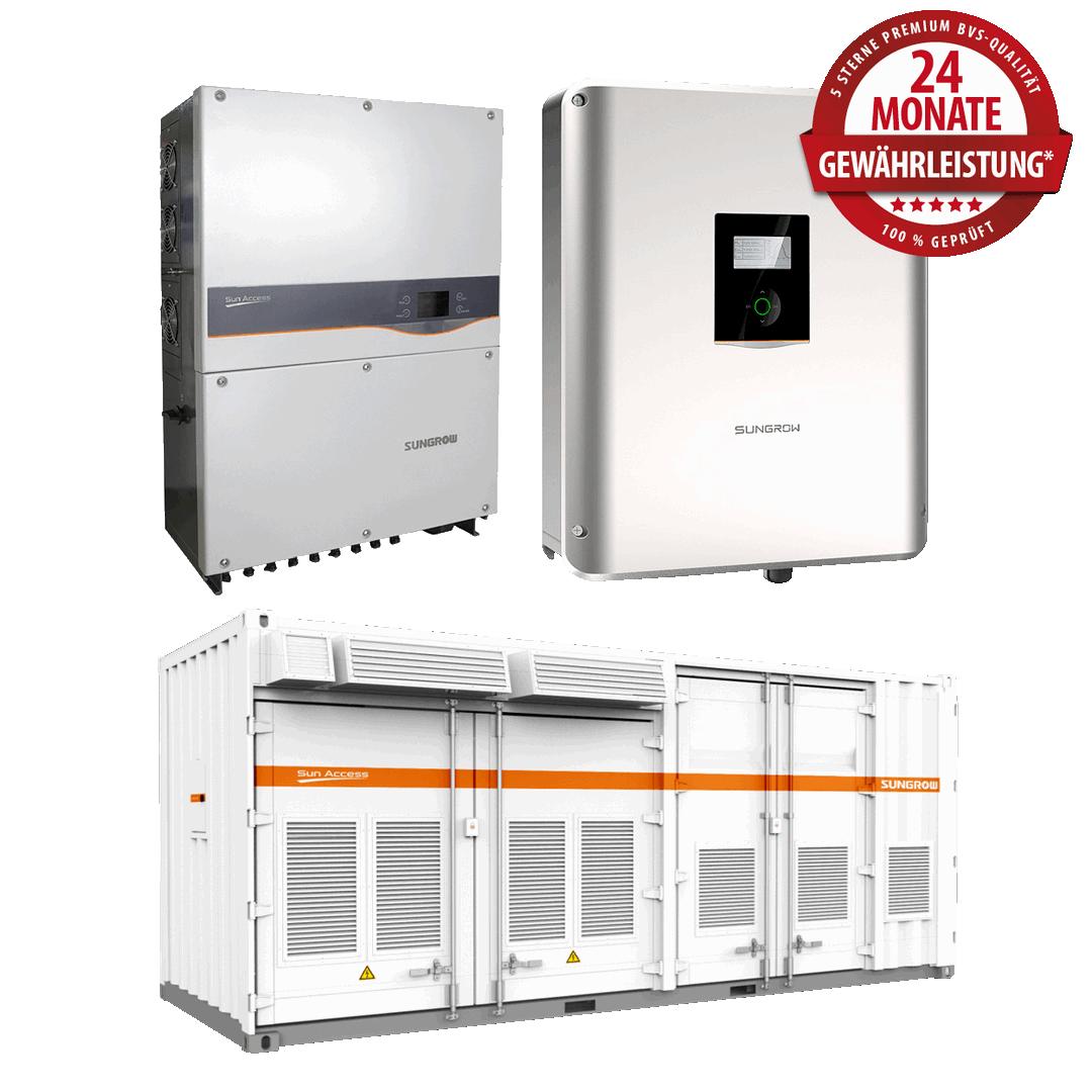 Sungrow Wechselrichter 10 kW bis 2.5 MW – Produktüberholende Reparaturen & Service
